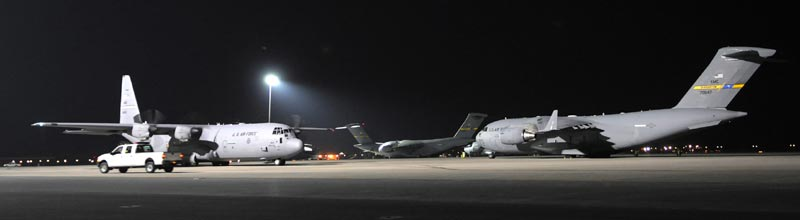 Metal Halide Lamps Are A Powerful Source Of Light. Photo: 379th Air  Expeditionary Wing, US Air Force