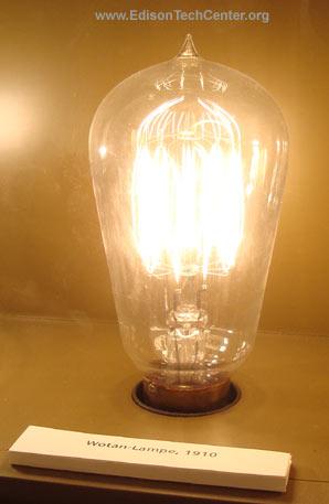 Photo: The Tantalum Lamp. Wotan Lampe 1910